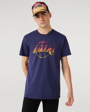 New Era LA Lakers Summer City Infill Triko Modrá