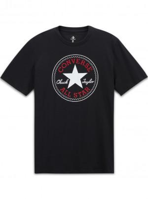 Converse černé pánské tričko Chuck Patch s logem