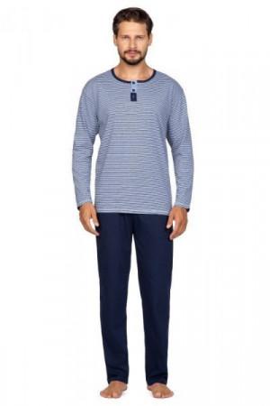 Regina 593 Pánské pyžamo plus size XXL béžová