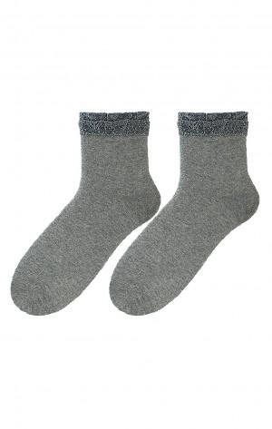 Dámské ponožky Bratex D-063 Lurex 36-41 béžová/žíhaná 36-38