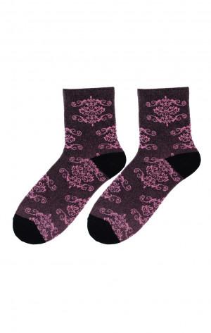 Dámské ponožky Bratex D-063 Lady bordowy 36-38