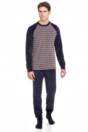 Vamp - Pohodlné dvoudílné pánské pyžamo 15753 - Vamp blue blazer m