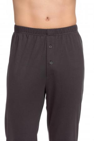 Vamp - Pohodlné dvoudílné pánské pyžamo 15707 - Vamp dark gray l