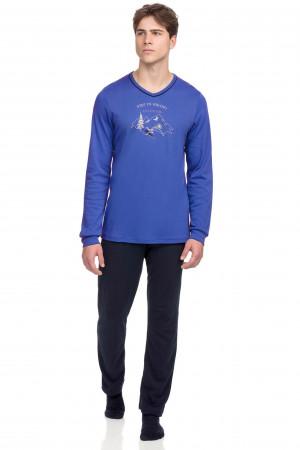 Vamp - Pohodlné dvoudílné pánské pyžamo 15695 - Vamp blue lapis m