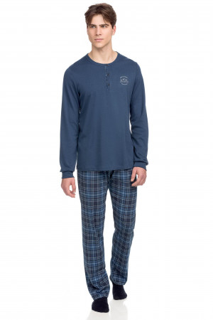 Vamp - Pohodlné dvoudílné pánské pyžamo 15690 - Vamp raf m