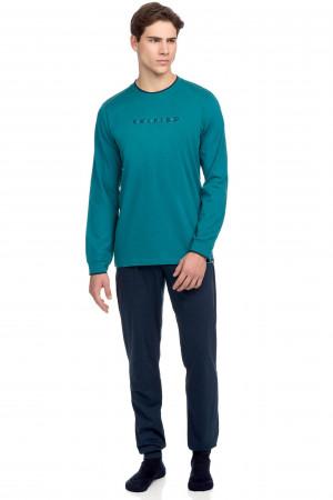 Vamp - Pohodlné dvoudílné pánské pyžamo 15636 - Vamp petrol m