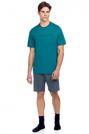 Vamp - Pánské pyžamo s krátkým rukávem 15635 - Vamp petrol m