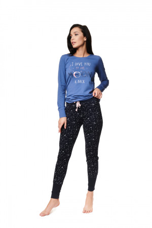 Dámské pyžamo ZADIE 39225 NIEBIESKI-GRANAT
