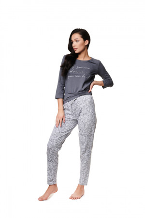 Dámské pyžamo ZAYLEE 39218 GREYRED