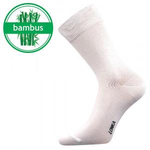 Ponožky Lonka bambusové bílé (Debob)