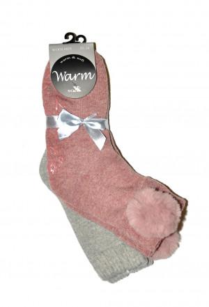 Dámské ponožky Warm Sox 37706 ABS 2ks - WiK černá 35-38
