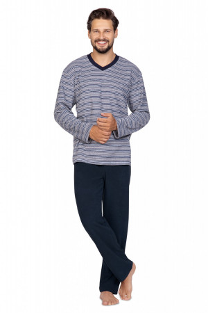 Pánské pyžamo Regina 589 dł/r M-XL hnědá