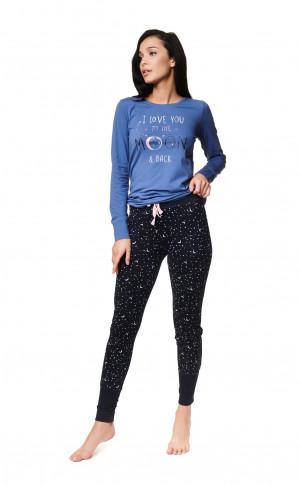 Dámské pyžamo Henderson Ladies 39225 Zadie kr/r S-XL blue