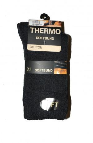 Pánské ponožky WiK 23405 Thermo Soft Bund A'2 grafitowy 39-42
