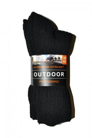 Pánské ponožky WiK 21145 Outdoor Extra Warm A'3 černá 39-42