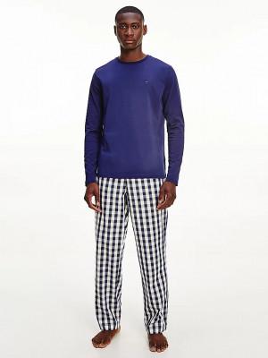 Pánské pyžamo UM0UM01960 - 0Y1 - Modrá - Tommy Hilfiger modrá