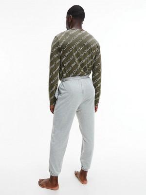 Pánské pyžamo NM2178E - V5L - Khaki - Calvin Klein khaki