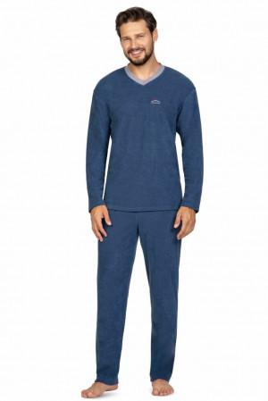 Froté pánské pyžamo Jack modré modrá