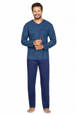 Pánské pyžamo Steve tmavě modré modrá