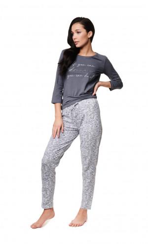 Dámské pyžamo Henderson Ladies 39218 Zaylee 3/4 S-2XL grey