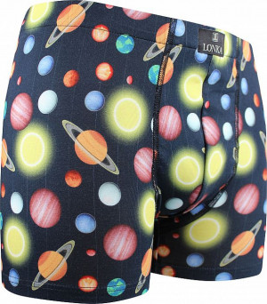 Pánské boxerky Lonka vícebarevné (Kevin-planety)