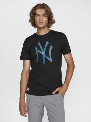 New Era MLB Seasonal Team Logo New York Yankees Triko Černá