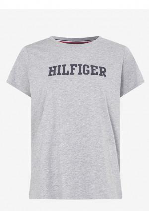 Dámské tričko Tommy Hilfiger UW0UW2618 L Šedá