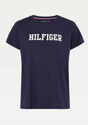 Dámské tričko Tommy Hilfiger UW0UW02618 L Tm. modrá