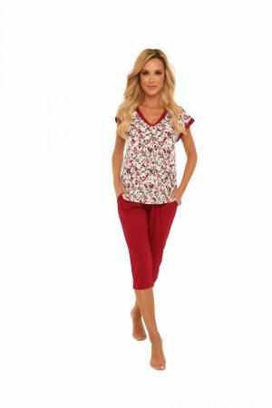 Dámské pyžamo 491 MIA_KR_RĘK_3/4_SP BIG GRANATOWY 3XL