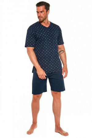 Pánské pyžamo 472/188 Martin2  - CORNETTE tmavě modrá