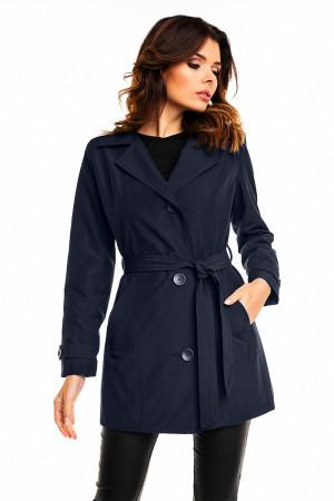 Dámský kabát / plášť model 128510 - Cabba tmavě modrá 36/S