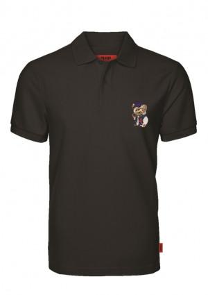Pánské tričko John Frank JFTPOLO05 Teddy L Černá