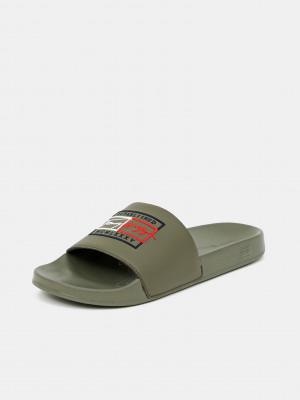 Pantofle Tommy Hilfiger Zelená