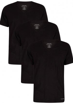 Pánské tričko Classic fit 3 pack NB4012A - 001 - Černá - Calvin Klein černá