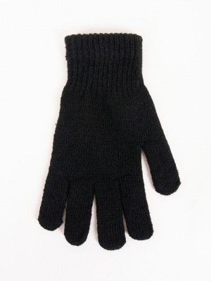 Pánské rukavice s vlnou R-049 BLACK\RED 25 CM