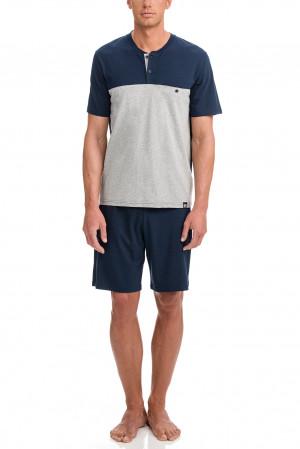 Vamp - Pánské pyžamo 12651 - Vamp blue oxford m