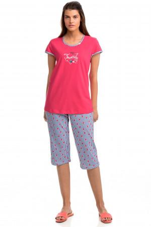 Vamp - Pohodlné dvoudílné dámské pyžamo 14390 - Vamp poppy red l
