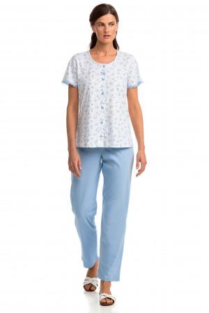 Vamp - Pohodlné dvoudílné dámské pyžamo 14362 - Vamp blue bel air s