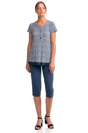 Vamp - Dvoudílné dámské pyžamo 14136 - Vamp blue crest 5xl
