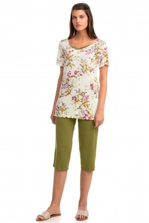 Vamp - Dvoudílné dámské pyžamo 14119 - Vamp green juliet s