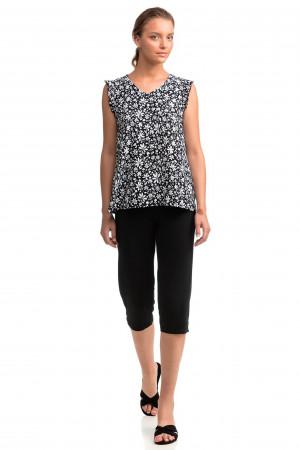 Vamp - Dvoudílné dámské pyžamo 14056 - Vamp black s