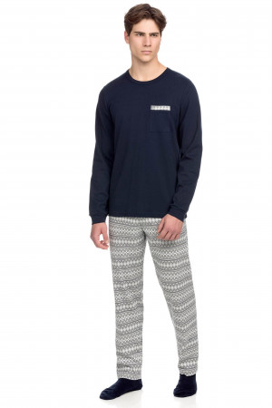 Vamp - Pohodlné pánské pyžamo 15683 - Vamp blue l