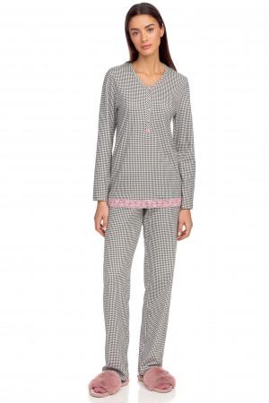 Vamp - Dvoudílné dámské pyžamo 15367 - Vamp gray shadow m
