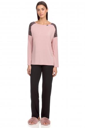 Vamp - Dvoudílné dámské pyžamo 15207 - Vamp pink zephyr xl