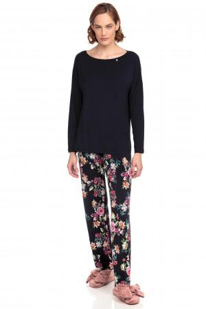 Vamp - Dvoudílné dámské pyžamo 15111 - Vamp blue noir s