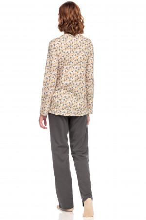 Vamp - Dvoudílné dámské pyžamo 15392 - Vamp gray shadow m
