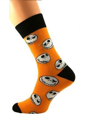 Pánské ponožky Bratex Popsox Halloween 5650 white 39-42