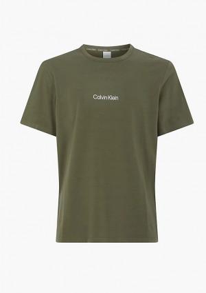 Pánské tričko Calvin Klein NM2170 L Olivová