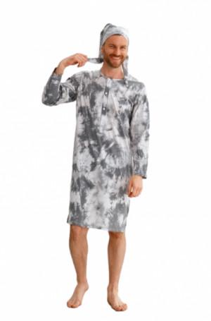 Taro Philip 2630 Z'22 Pánská noční košilka L šedá-grafitová