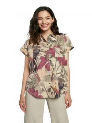 Cam Etnican Košile Desigual Béžová